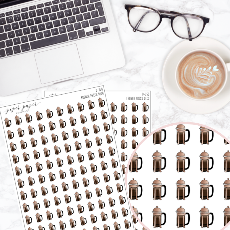 French Press Deco Sticker Sheet