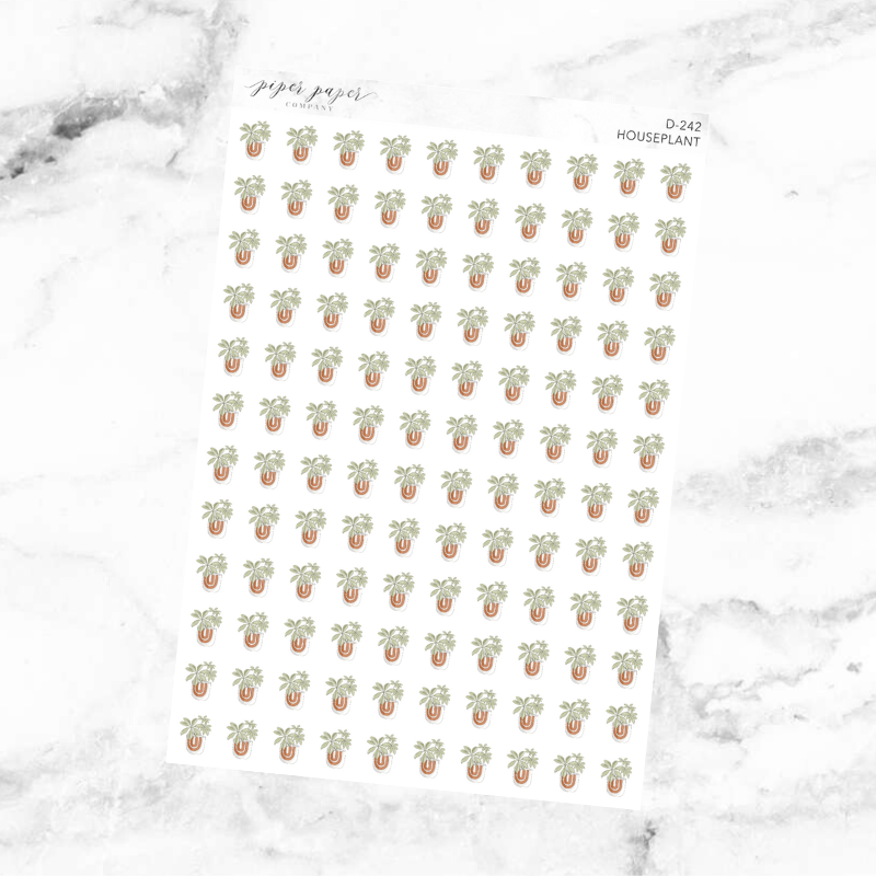 Houseplant Deco Sticker Sheet