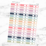 Pastel Work Shift Label Sticker Sheet