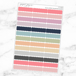 Pastel Scalloped Quarter Box Sticker Sheet