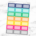 Bright Squared Half Box Sticker Set