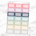 Pastel Squared Half Box Sticker Sheet