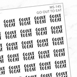 Go Out To Eat Mini Script Sticker Sheet