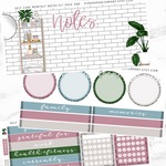 Self Care Monthly Notes Page Kit For The Vertical ECLP