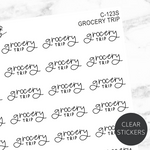 Grocery Trip TRANSPARENT Script Sticker Sheet