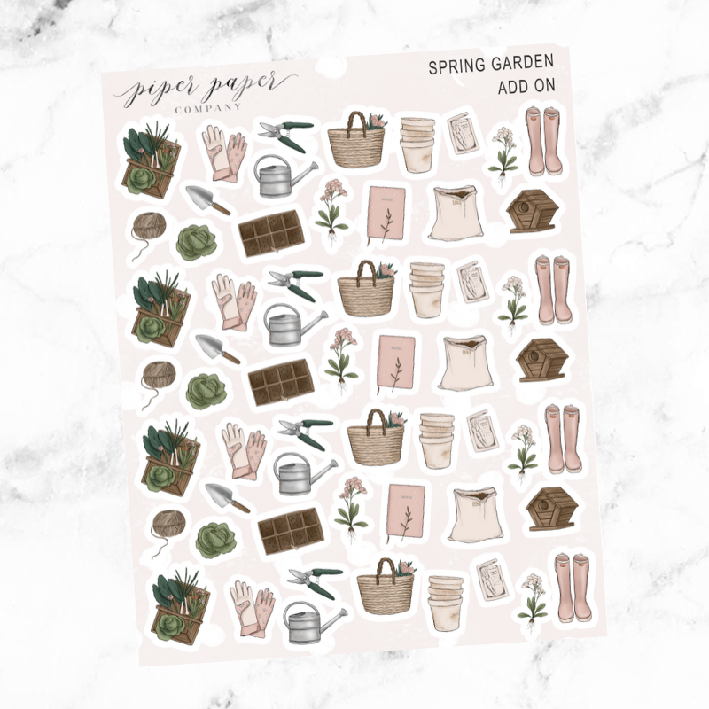 Spring Garden Deco Add On Sticker Sheet