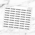 Organize Mini Script Sticker Sheet