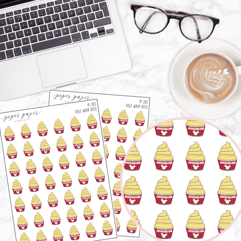 Dole Whip Mini Deco Sticker Sheet