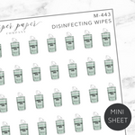 Disinfecting Wipes Mini Deco Sticker Sheet