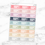 Pastel Bill Due Sticker Set