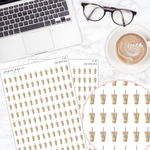 Iced Coffee Deco Sticker Sheet