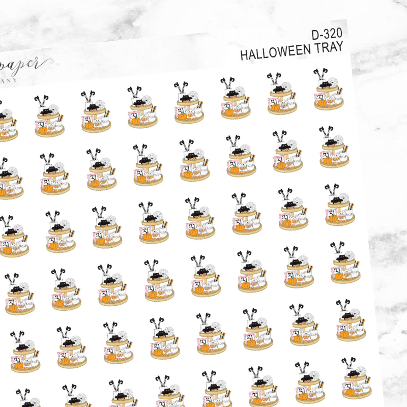 Halloween Tray Deco Sticker Sheet