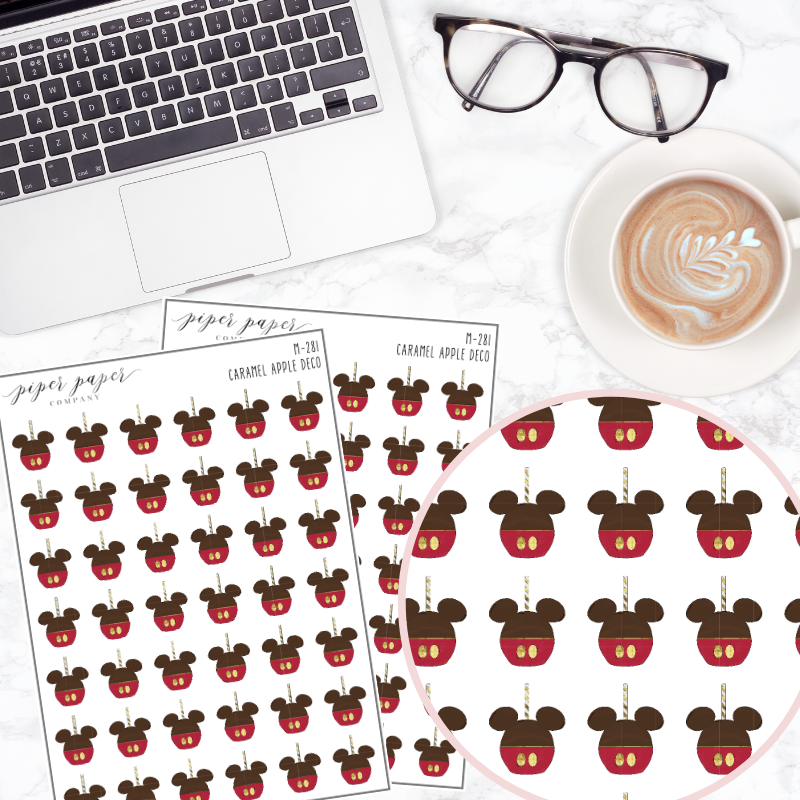 Caramel Apple Mini Deco Sticker Sheet