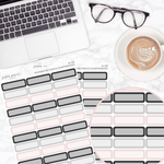 Neutral Rounded Rectangle Quarter Box Sticker Sheet