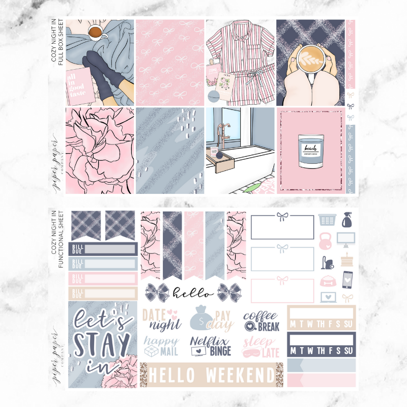 Cozy Night In Ultimate Sticker Kit For the Vertical ECLP