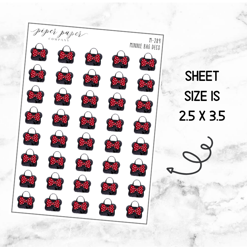 Minnie Bag Mini Deco Sticker Sheet