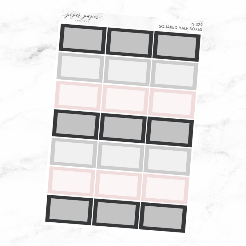 Neutral Squared Half Box Sticker Sheet