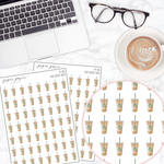 Iced Coffee Mini Deco Sticker Sheet