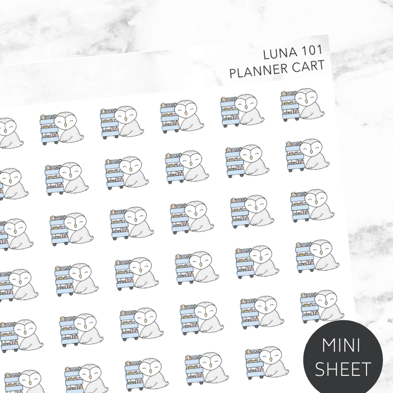 Planner Cart Sticker Sheet