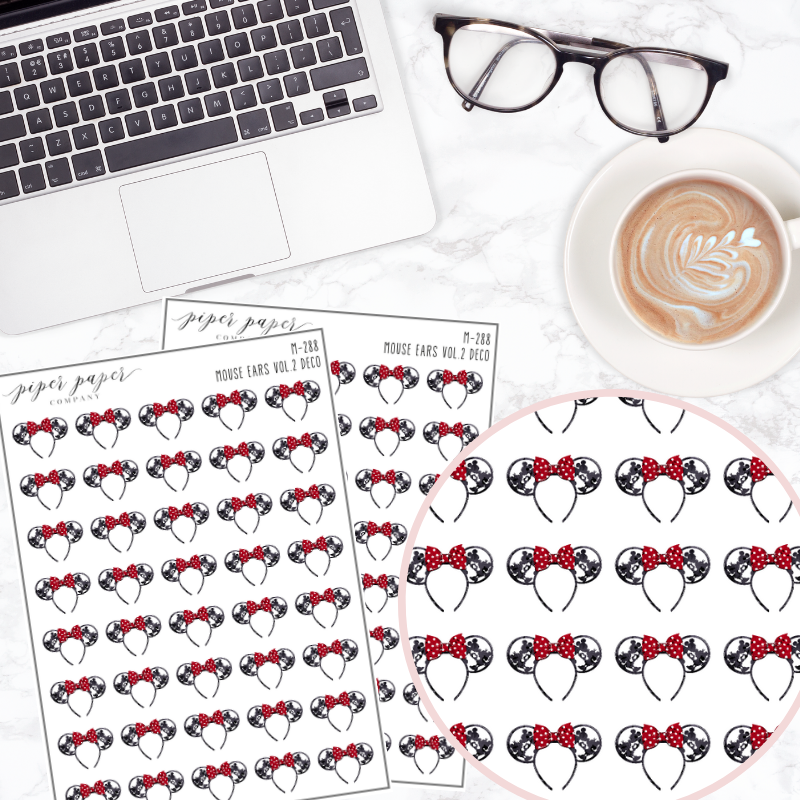 Mouse Ears 2.0 Mini Deco Sticker Sheet