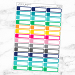 Bright Appointment Rounded Quarter Label Sticker Set
