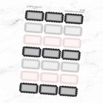 Neutral Scalloped Half Box Sticker Sheet