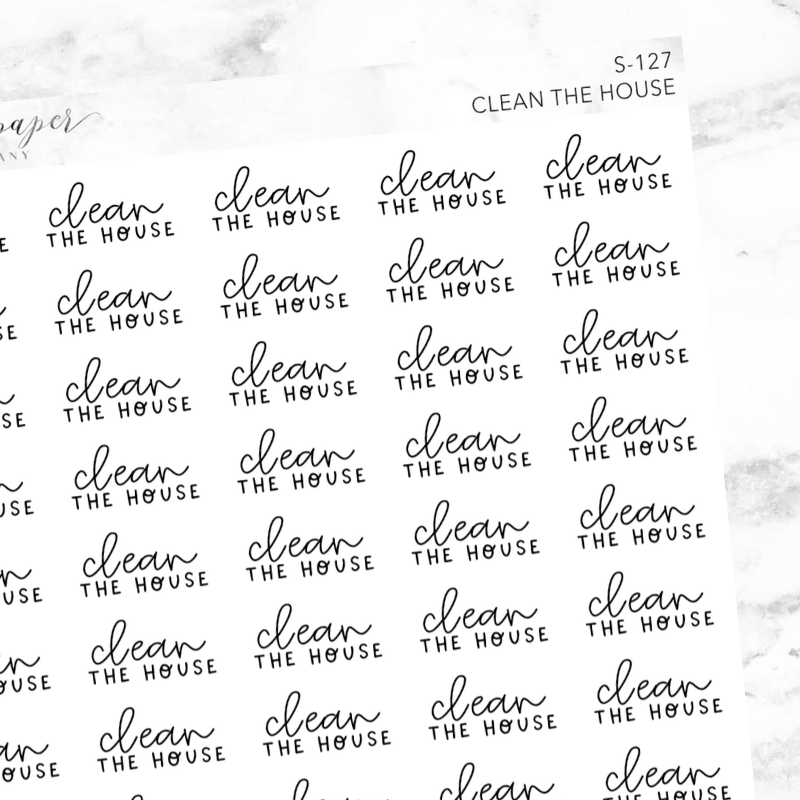 Clean The House Script Sticker Sheet