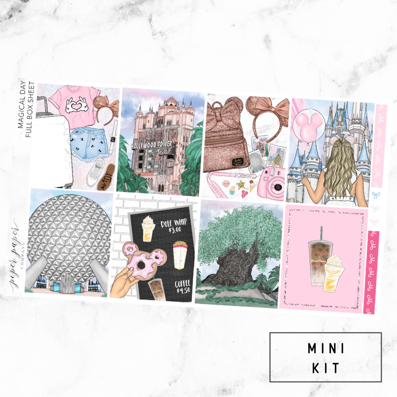 Magical Day Mini Sticker Kit For the Vertical ECLP