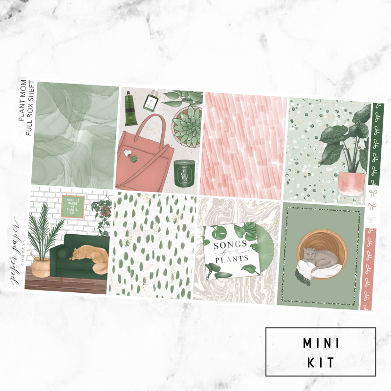 Plant Mom Mini Sticker Kit For the Vertical ECLP