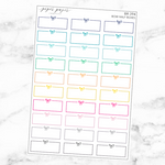 Bright Bow Half Boxes Sticker Set