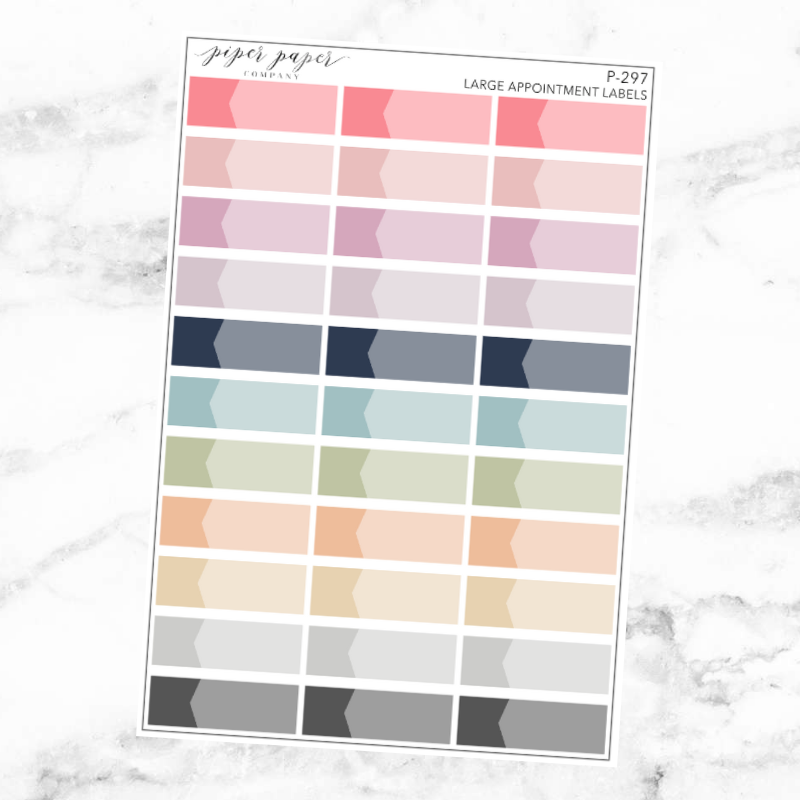 Pastel Large Appointment Label Sticker Set