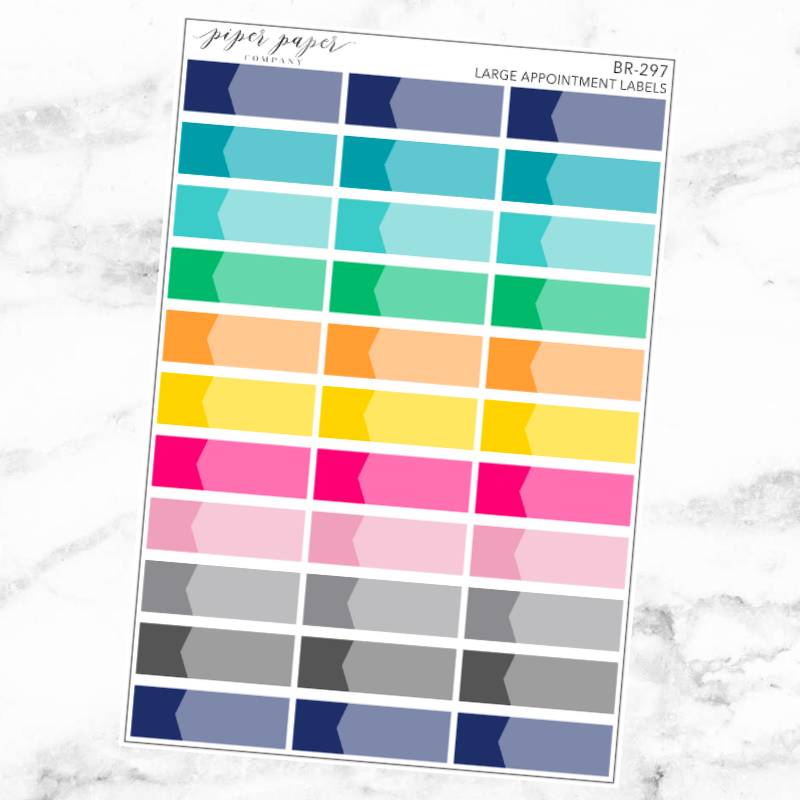 Bright Large Appointment Label Sticker Set