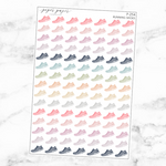 Pastel Running Shoes Sticker Sheet