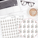 Skincare Set Mini Deco Sticker Sheet