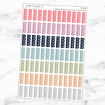 Pastel Small Bow Scalloped Checklist Sticker Sheet
