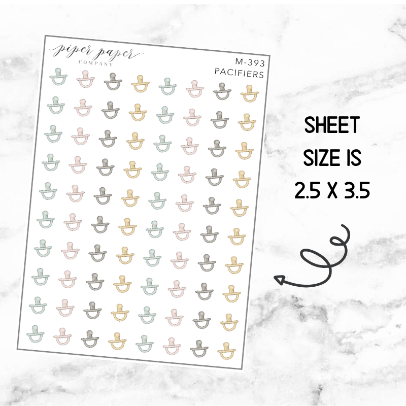 Pacifier Mini Deco Sticker Sheet