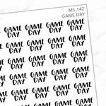 Game Day Mini Script Sticker Sheet