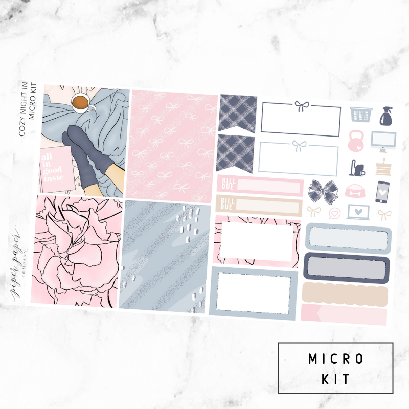 Cozy Night In Micro Sticker Kit For the Vertical ECLP