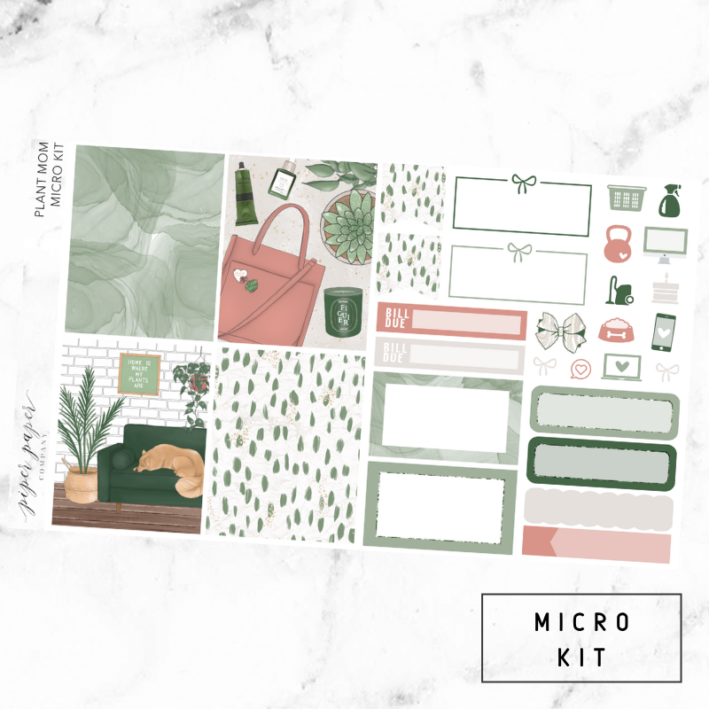 Plant Mom Micro Sticker Kit For the Vertical ECLP