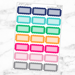 Bright Scalloped Half Box Sticker Set