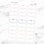 Pastel Bow Half Box Sticker Sheet