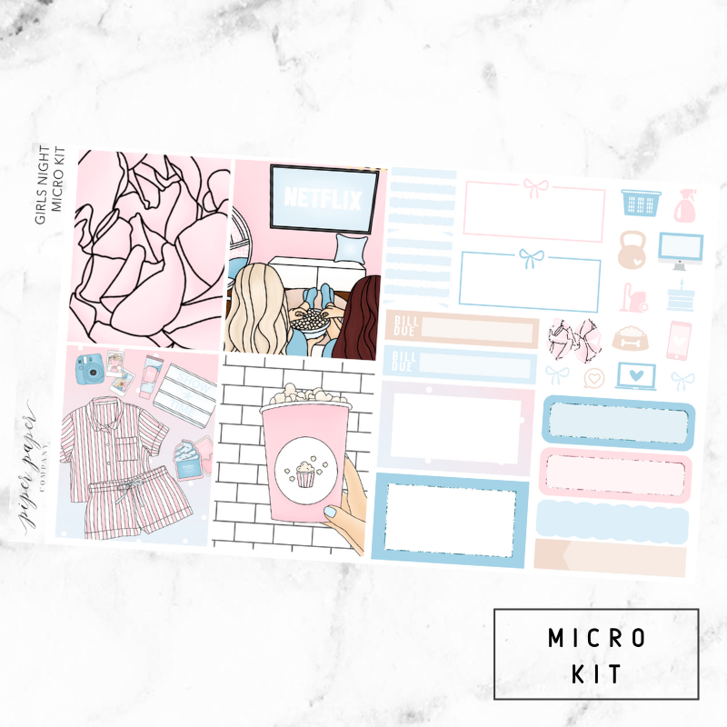 Girls Night Micro Sticker Kit For the Vertical ECLP