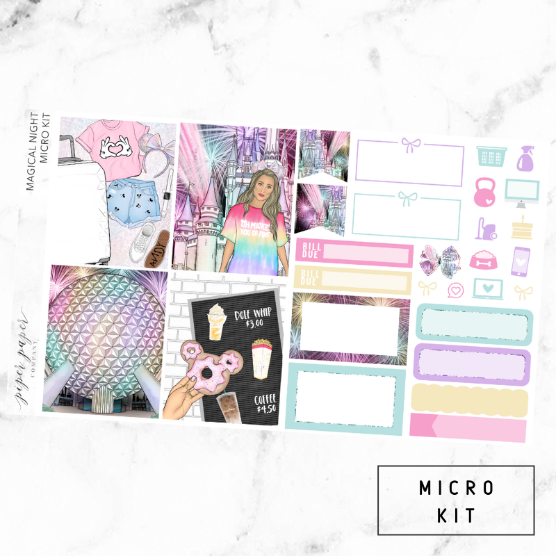 Magical Night Micro Sticker Kit For the Vertical ECLP