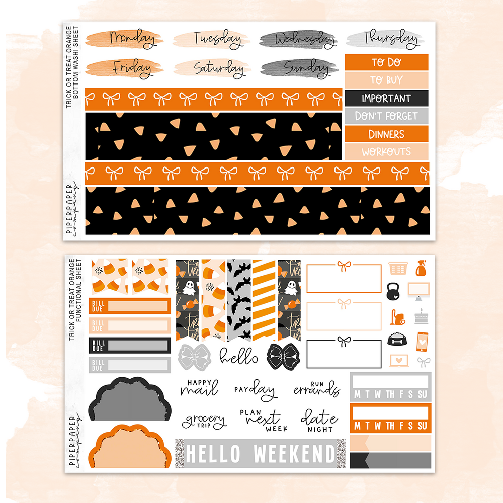 Trick or Treat Orange Mini Kit (4 Page)