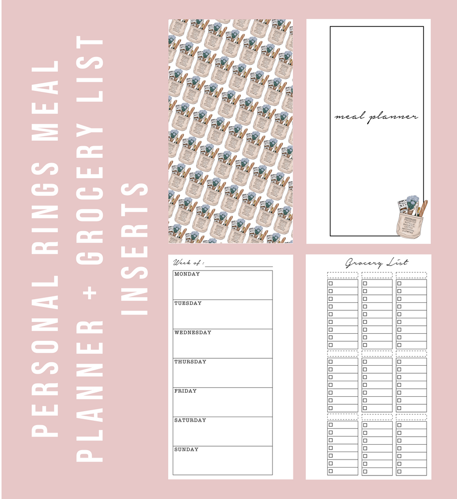 photograph relating to Printable Planner Inserts referred to as Specific Rings Blank Dinner Planner Grocery Listing Printable Planner Inserts
