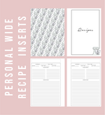 Personal Wide Rings Recipe Printable Planner Inserts