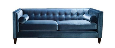 Blue Steel Sofa