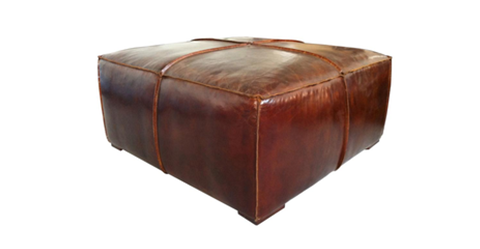 Mayfair Leather Ottoman