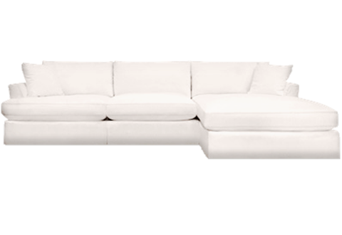 Ivory Slipcover Sectional