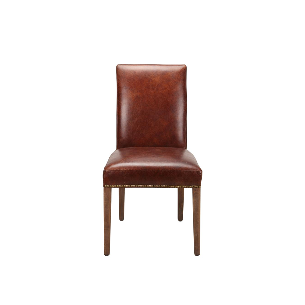 Rex Leather Parson Chair